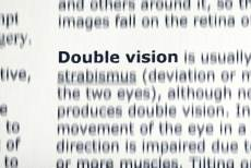double vision text definition