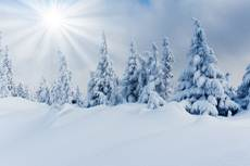 sun on snow