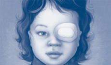 girl with patched eye