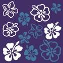 Paño de microfibras visio-rx diseño flores hawaianas