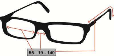 How To Read Eyeglass Frame Size : Frames - Buy Prescription Glasses Online - Visio-Rx