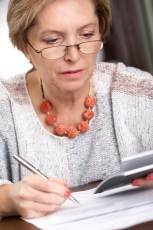 lady with reading glasses