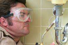 safety glasses and welding tool
