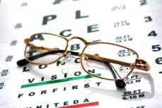 snellen chart and glasses