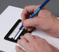 przyrząd pomagający ustawić podpis