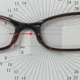 dopasowanie oprawki okularowej