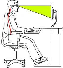 proper computer posture