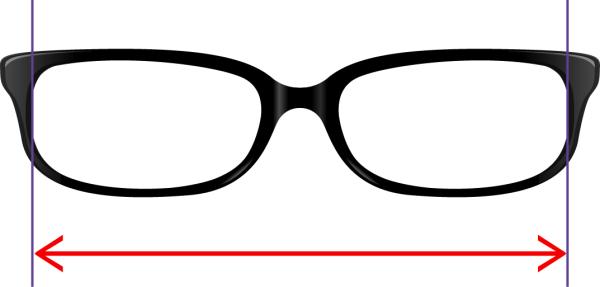 ltl frame width for glasses