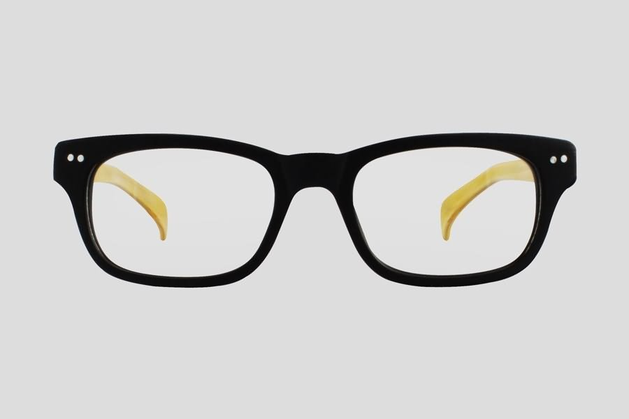 Eyeglass Frames Dayton Ohio : Glasses: Dayton Reor in the color(s): Black,Yellow. F10.156UWD