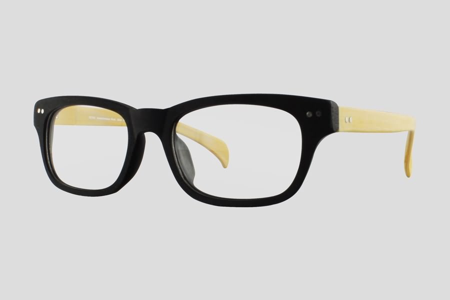 Glasses: Dayton Reor in the color(s): Black,Yellow. F10.156UWD