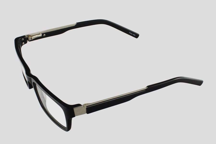 Eyeglass Frames Tucson : Glasses: Tucson Reor in the color(s): Black,Silver. F10.634UBL