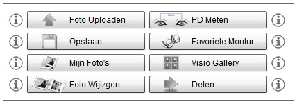 Virtuele Spiegel menu opties